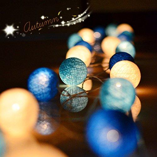stort ansikte katt färgad bomull sträng glödlampa sträng LED små färgade lampor blinkande lampor i rumsdekorationslampor, blå hav 6 m 40 lamppropp, fri storlek