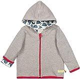 loud + proud Baby-Unisex Wendejacke aus Bio Baumwolle, GOTS Zertifiziert Jacke, Grau (Grey Gr), (Herstellergröße: 74/80)