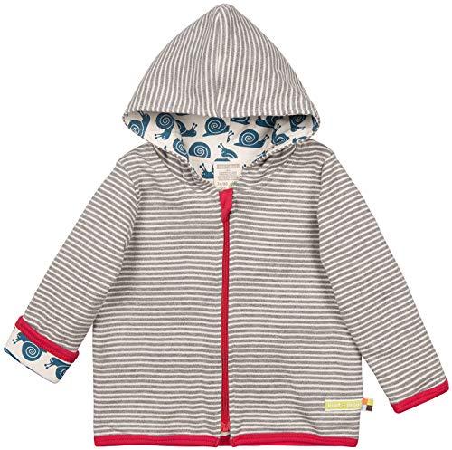 loud + proud Baby-Unisex Wendejacke aus Bio Baumwolle, GOTS Zertifiziert Jacke, Grau (Grey Gr), (Herstellergröße: 62/68)