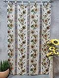 Cortinas alpujarras de travillas Girasoles para Puertas o Ventanas Interior y Exterior del Hogar.