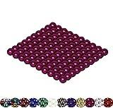 LaoSiJi Muchos Modelos: 100 magnético Bolas 5 mm para Pizarra, Pizarra magnética, frigorífico, Rosa