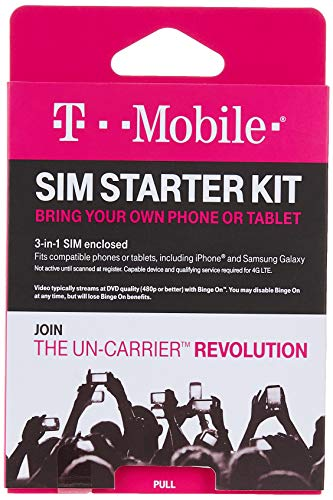 T-Mobile Prepaid Complete SIM Starter Kit Package May Vary