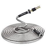 Greenbest Lightweight 304 Stainless Steel Garden Hose w/Aluminium Alloy Nozzle, Watering your...