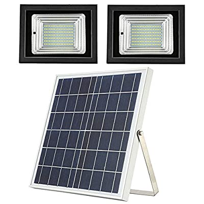 MYM Solar Flood Lights Outdoor Dusk to Dawn Dual 126 Led Lamps 18W Solar Panel IP65 Waterproof Solar Powered Flood Lights Outdoor for Backyard Patio Street Pathway Landscape,Remote Control Available