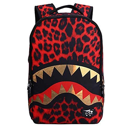 Topdo - 1 mochila con diseño de leopardo, para adolescentes y niños, unisex, 48 x 31 x 15 cm c 48 * 31 * 15CM
