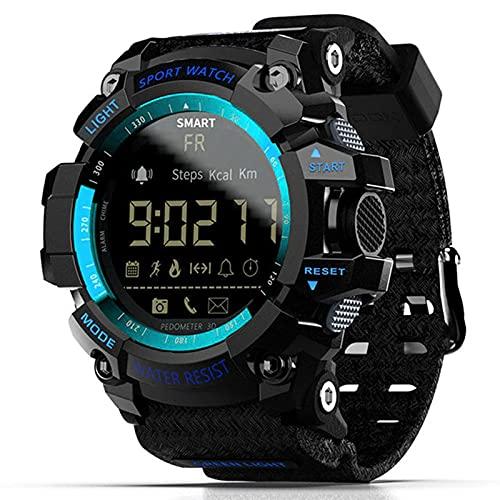 L.B.S MK16 Reloj Inteligente Reloj para Hombres y Mujeres EL Luminous Sports BT Reloj Inteligente Actividad Rastreador de Actividad física Reloj para Android/iOS(A)