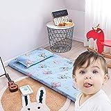 Alfombra de Tatami Japonesa,Plegable Colchón Suelo, niño Grueso Acolchado Suave Antiescaras Colchón futon Dormir Mat para Dormitorio Alcoba,4,60 * 135cm