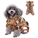 Winter Puppy Dog Coat for Small Dogs, Waterproof Dog Jacket Windproof Dog Snowsuit Warm Fleece Padded Pet Clothes