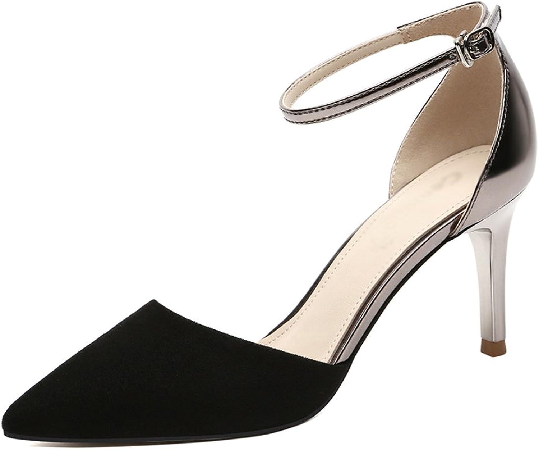 Damenschuhe HWF Sandalen Frau Sommer Sommer Thin High Heels Frau (Farbe   Schwarz, Größe   37)  erschwinglich