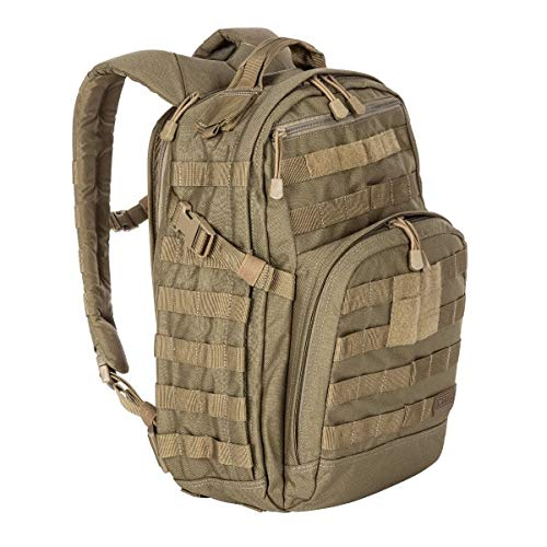 5.11 Tactical Military Backpack - RUSH12 - Molle Bag Rucksack Pack, 24 Liter Small, Style 56892, Sandstone