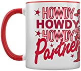 Toy Story - Taza Interior A Color Howdy Partner, Red, 320ml