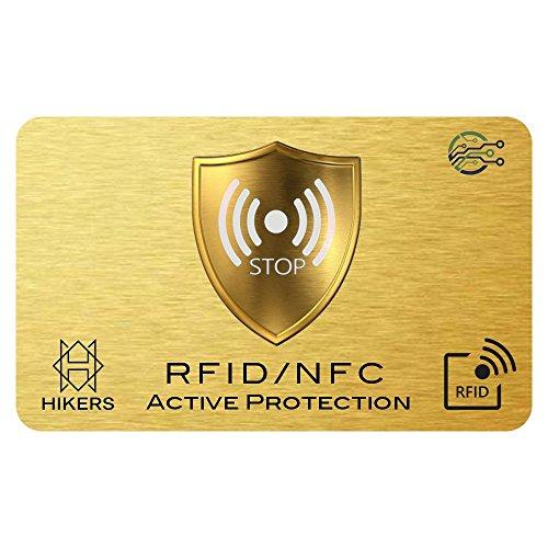 3 Cartes Anti RFID/NFC Protection Carte bancaire sans Contact, Fini Les étuis et Pochettes, Le Portefeuille est entièrement protégé, Carte de crédit, Cartes Bleues, Passeport. Blocage RFID