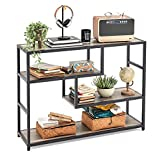 Linsy Home Console Table, Wood Sofa Table with Storage Shelves for Home Living Room Hotel Office Showing Room.