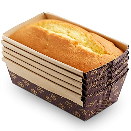 OJelay Paper Loaf Pan For Baking, 6x3' Mini Bread Loaf Pan 5pcs Disposable Bread Baking Pan