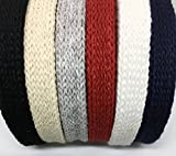 3/8' Cotton Natural Flat Cord for Laces, Drawstrings, and Handles (10 Yards)