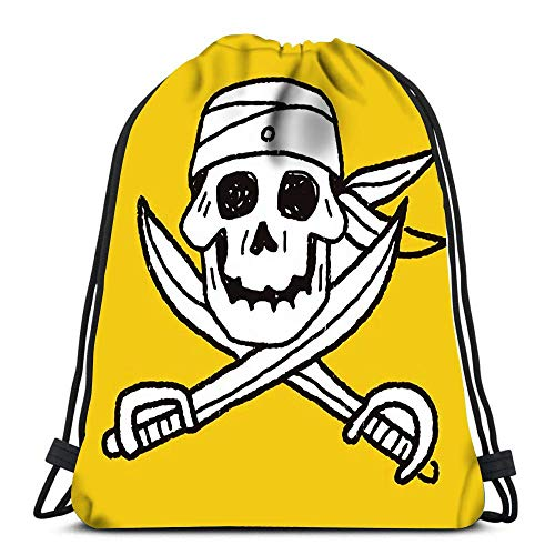 IUBBKI Mochila con cordón Bolsas Skull Knife Doodle Sport Storage Bolsa de poliéster para gimnasio