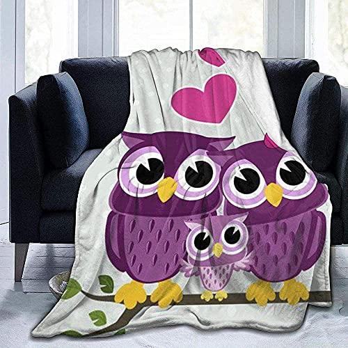 votgl Flauschige Decke Decke Schöne Eule Paar Druck Super Weiches Licht Komfortable Warme Mikrofaser Decke Bett Sofa Wohnzimmer Vier Jahreszeiten