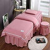 KKCD Beauty-Bettlakenbezug, Massagetisch-Couchbezug Mit Gesichtsloch, Massage-Tischlaken-Set Aus...