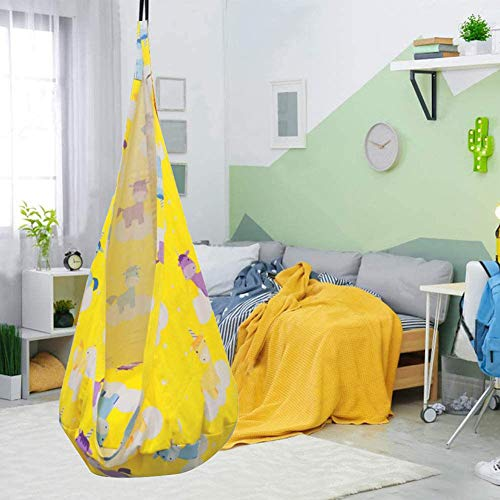 NUB Durable Comfortable Hanging Seat for Home Indoor Outdoor Child Hammock Chair,Yellow