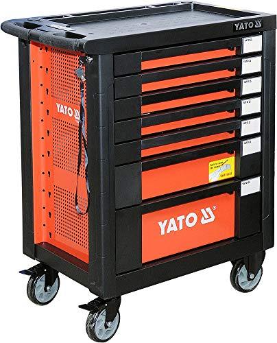 Yato YT-55290 Rollschrank mit Werkzeug, 211 Teile