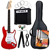 Rocktile Banger's Power Pack 36283 - Guitarra eléctrica, set de 8-piezas, color rojo
