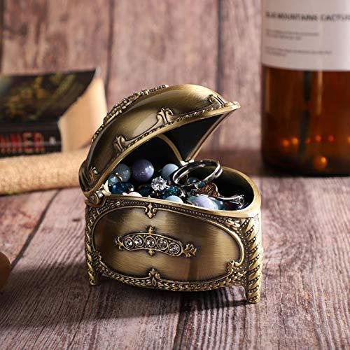 SALUTUYA Caja organizadora de joyería con Incrustaciones de Diamantes de imitación, Accesorio de fotografía, para Pendiente, Anillo, Collar con Franela