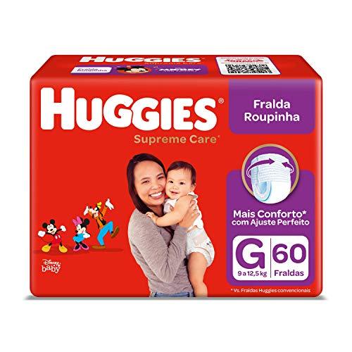 Huggies Fralda Supreme Care Roupinha Hiper G, 60 Fraldas