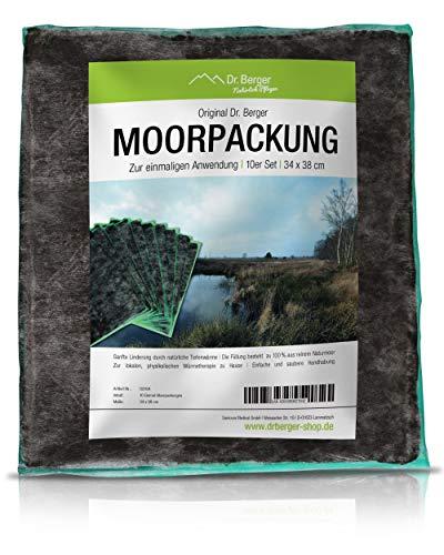 Dr. Berger Natur Moor Moorpackungen 450g Premium Moor-Kompresse - Physio,Wellness und zuhause. Moorkissen Moorpackungen mit natürlichem Torf Schlamm Fango mit Vlies - 37x34cm - 20x Pack