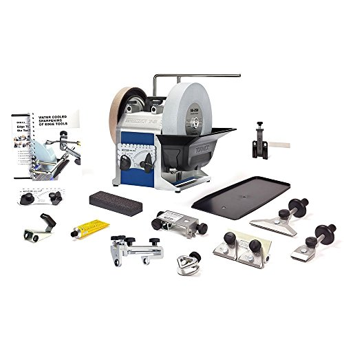 TORMEK Sharpening System Hand Tool Bundle Tbh801 T-8 A Complete Water Cooled Sharpener with Hand Tool Sharpening Jigs