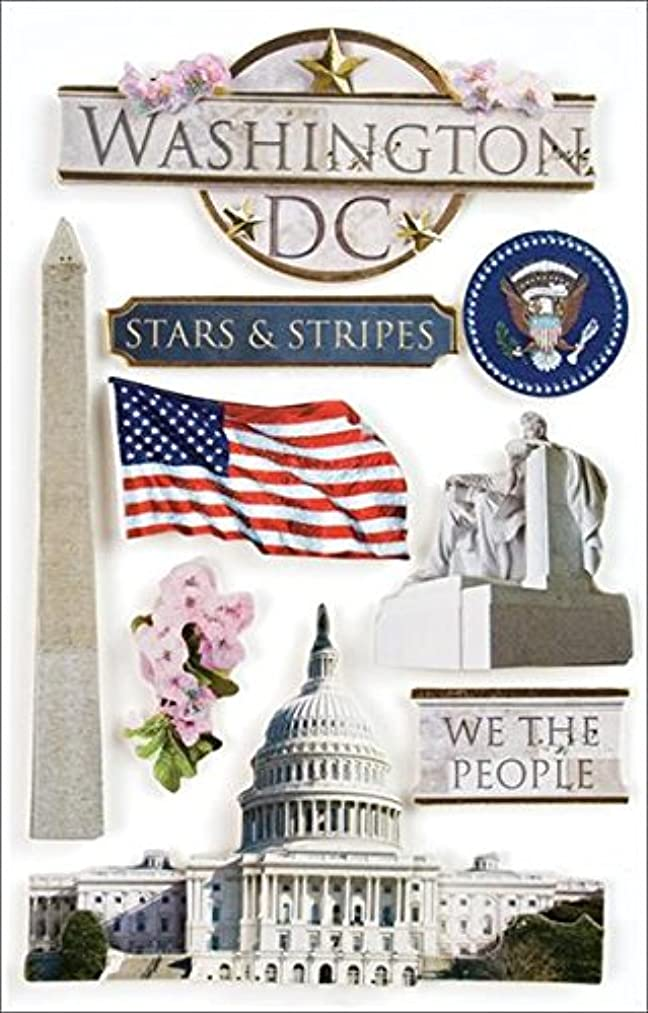 Paper House Productions STDM-0010E 3D Cardstock Stickers, Washington DC