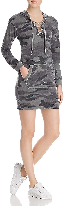 Splendid Womens Long Sleeves Camouflage Sweatshirt Dress