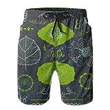 Mens 3D Printed Funny Doodle Romantic Set Linear Swim Trunks Quick Dry Beachwear Sports Running Swim Board Shorts XL
