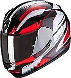 Scorpion Casco de moto EXO-390 BOOST Black-White-Red, Negro/Blanco/Rojo, M