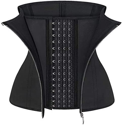 ASHLONE Waist Trainer for Women Latex Zipper Corset Sport Cincher Hourglass Body Shaper product image