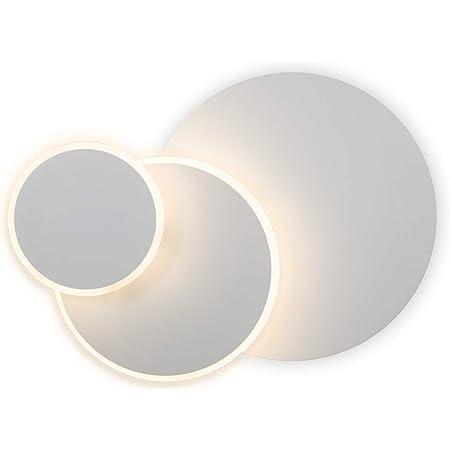 Glighone Applique Mural LED Intérieur Moderne pour Chambre à Coucher Eclipse Créatif DIY 3 en 1 Eclairage Rotatoir à 350° Dispositif Décoratif de Lampe Murale pour Chevet Couloir Balcon Escalier 15W