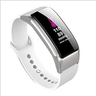 SXFYMWY Rastreador de Fitness Ritmo cardíaco monitorización de la presión Arterial Bluetooth Llamada Auricular multifunción Pulsera Auriculares combinación
