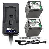 Kastar LED Super Fast Charger & Camcorder Battery X2 for Panasonic VW-VBG260 VW-VBG130 AG-AC7 AF100 AG-HMC40 AG-HMC80 AG-HMC150 HDC-HS250 HDC-HS300 HDC-HS700 HDC-SD600 HDC-SD700 HDC-SDT750 HDC-TM300