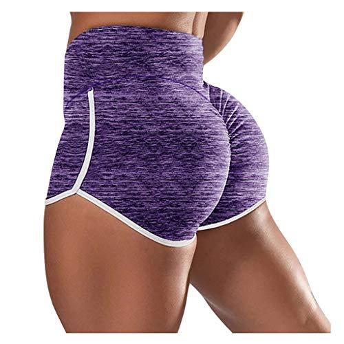 HUYURI High Waist Leggings Damen Shorts Sport Fitness Yogahose Blickdicht Leggings Yoga Hose Sporthose Leggins Fitnesshose