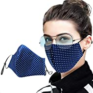 Built in filter, snug fit with four layer filtration, ideal for both men and women, suitable for cycling, camping, running, travel, climbing and daily use. Wide coverage soft padded nose clip stops steaming up of eyes and glasses. Two layers of cotto...