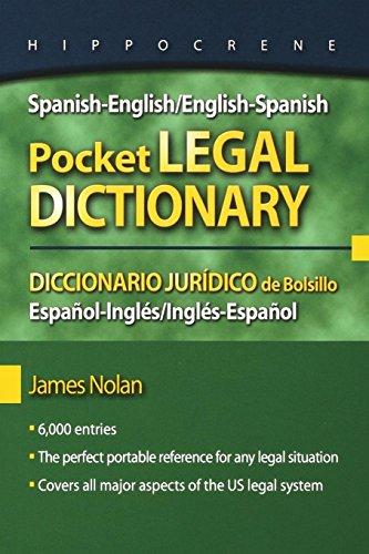 Spanish-English/English-Spanish Pocket Legal Dictionary/Diccionario