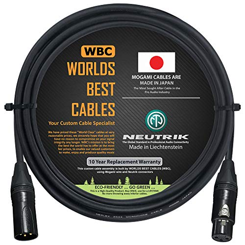 4 Foot – Quad Balanced Microphone Cable CUSTOM MADE By WORLDS BEST CABLES – using Mogami 2534 wire and Neutrik NC3MXX-B Male & NC3FXX-B Female XLR Plugs.