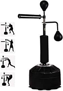 Punch Bag Frame for Punching Stricking Training Dodge Bag NOBLJX Adjustable Speed Ball Platform with Boxing Bags and Professional Grade Swivel