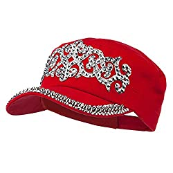 Red Military Cap with Medieval Design