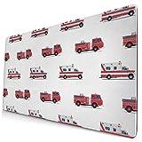 Muster der Feuerwehrautos Multifunktionale Büro-Schreibtisch-Pad, Gaming große Tastatur Mauspad...