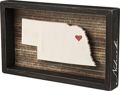 des éléments par Kathy Wanderlust Box Sign, 31,8x 19,1cm, Nebraska
