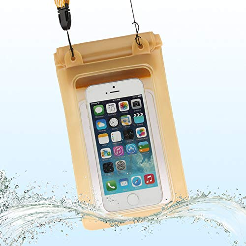 JIAHENG Phone Case Beach Waterproof Storage Bag with Strap for iPhone 5 & 5s & SE & 5C, Inner Size: 17.5cm x 11.3cm PU Leather Cover Shell