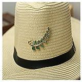 KAERMA - Broche de hojas de bambú con diseño de hojas elegantes para mujer, hombre, camisa, sombrero, collar, insignias, accesorios de joyería (tamaño: 6 A)