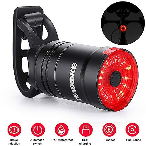 Yeelight Rücklicht für Fahrrad, Bremslicht, Induktion, Rücklicht, wasserdicht, Berg, Rennrad, Reiten bei Nacht, Warnung für USB-Ladekabel, Gurt