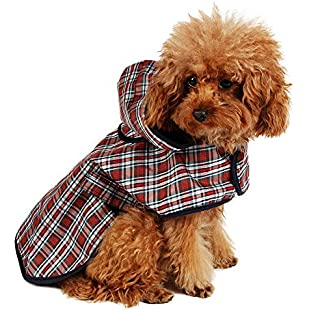Customer reviews PAWZ Road Plaid Waterproof Dog Outdoor Raincoat Warm Jacket with Magic Stickers Four Sizes:Viralbuzz