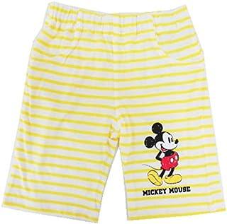 Disney ディズニー ミッキーマウス ボーダーハーフパンツ 5分丈パンツ